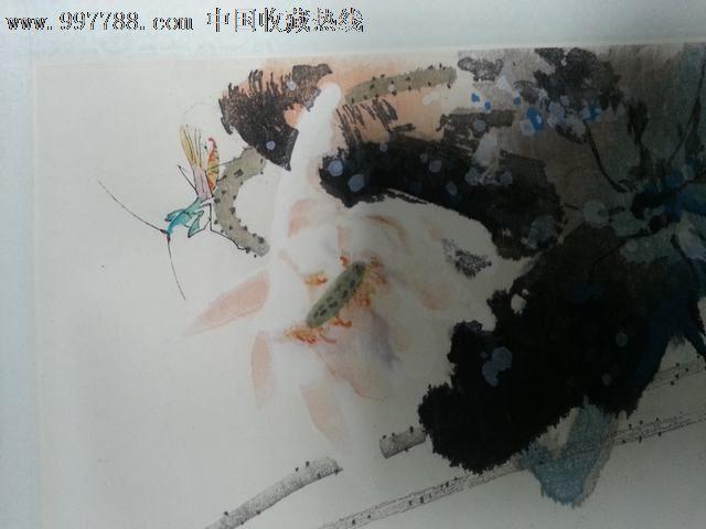 天津杨柳青木版水印-刘允衡-荷花_第4张_7788收藏__中国收藏热线