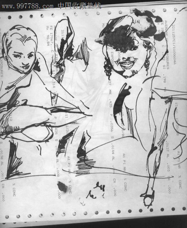 钢笔画_价格元_第1张_7788收藏