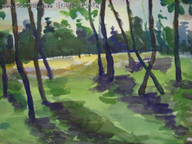 油画家董钢作品——水彩画之8:《小树林》_第2张_7788收藏__中国收藏