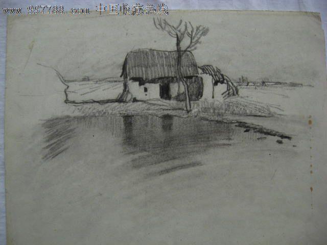 风景画 手绘铅笔