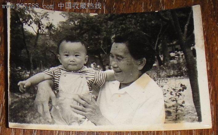 奶奶与孙子,老照片,老照片-->个人照片,普通人大人,七十年代(20世纪)