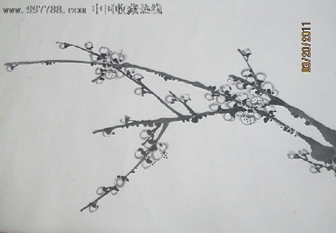 桃花画卷-花鸟国画原作--se15962073-零售-7788收藏