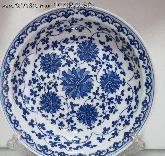 景德镇陶瓷青花瓷盘子餐盘装饰盘菜盘7寸汤盘碟