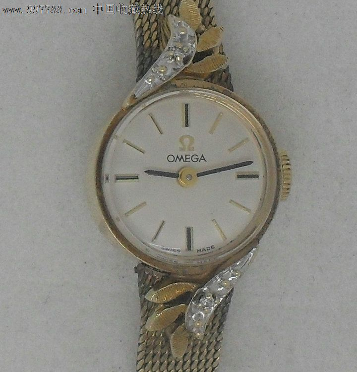 14k实金欧米茄omega女士手表表带包金图片