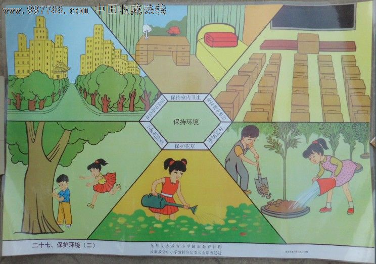 九年义务教育小学健康挂图-保护环境(二)