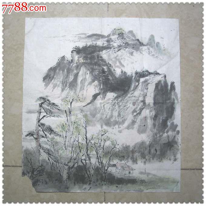 漂亮的文革手绘山水画