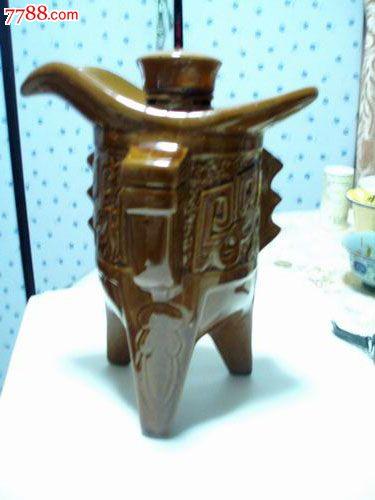 古代爵酒具型酒瓶(瓷瓶)