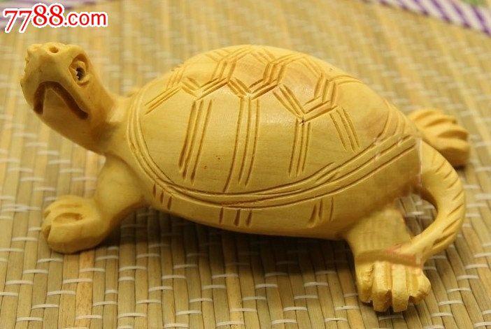 黄杨木小件乌龟摆件-价格:20.0000元-se16783775-木雕