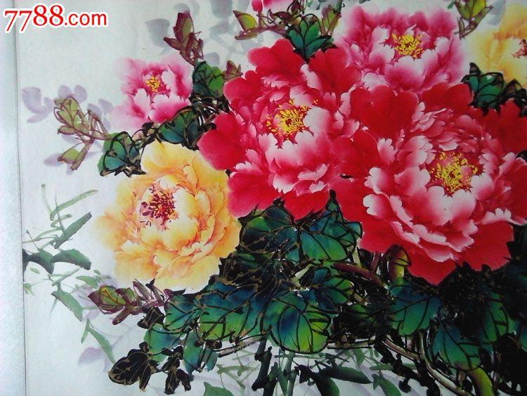 牡丹花5-花鸟国画原作--se16834208-零售-7788收藏