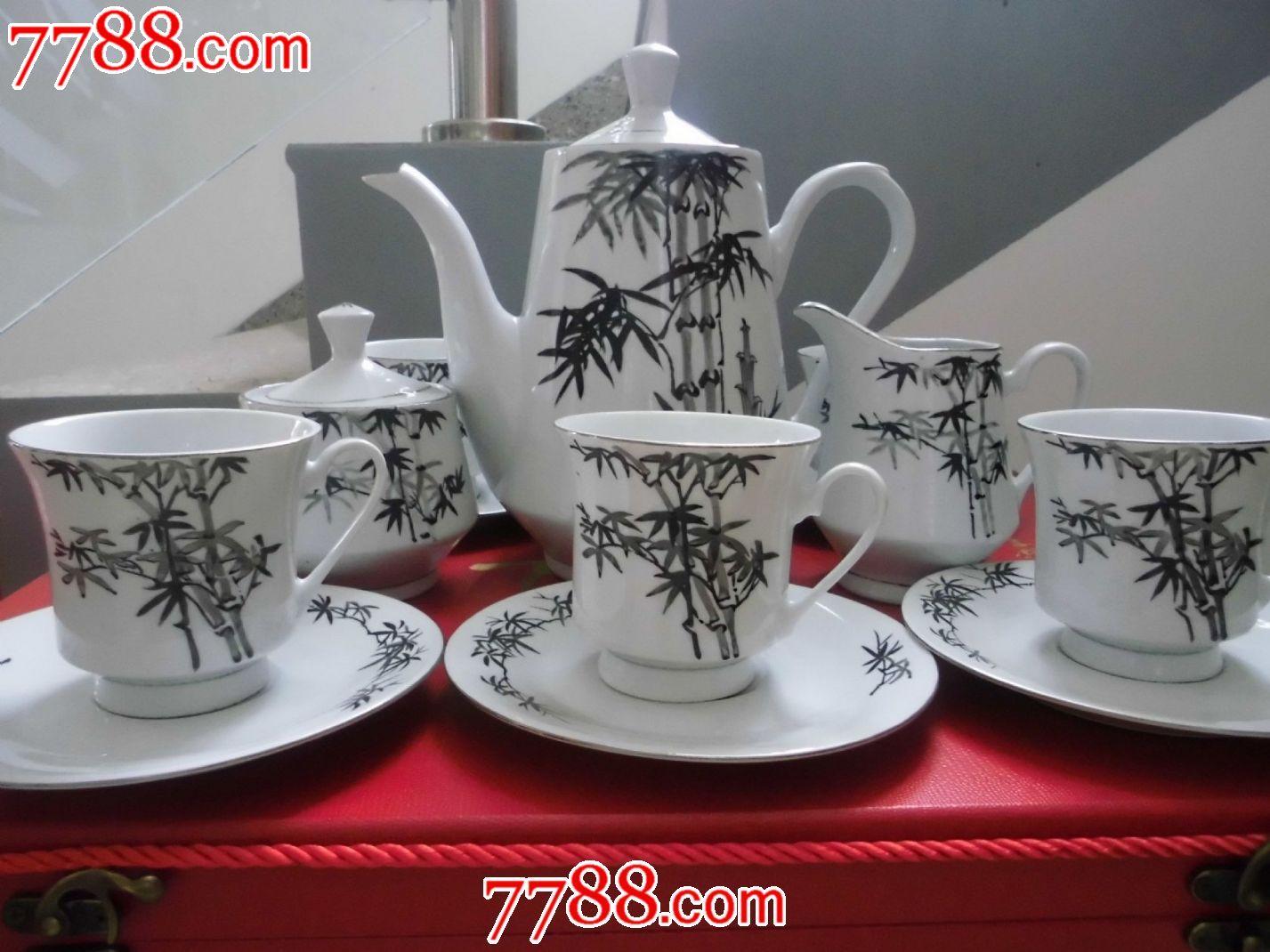 醴陵手绘竹叶茶具