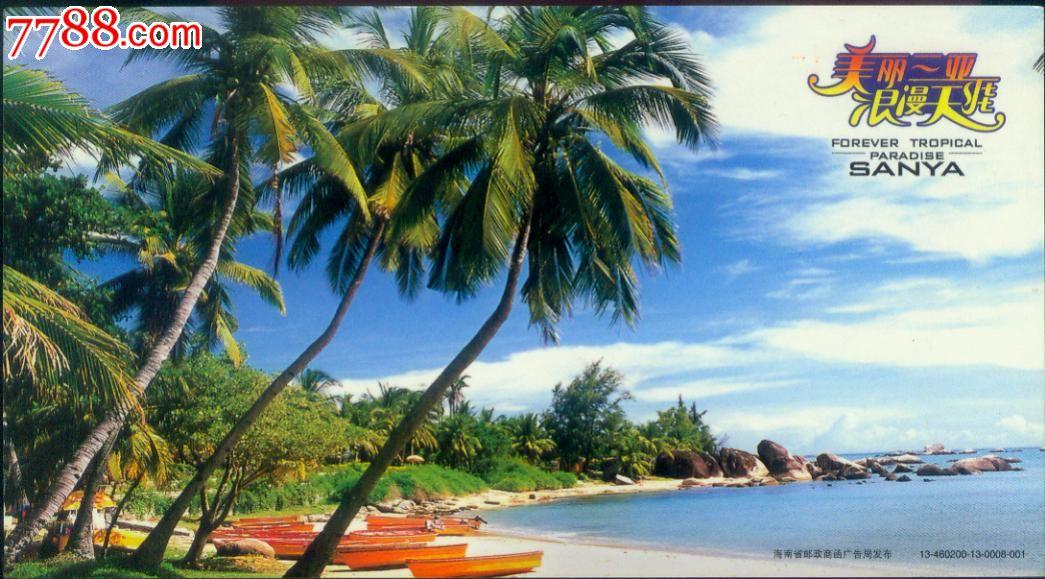 2013年【可制--海南椰树林】金卡明信片