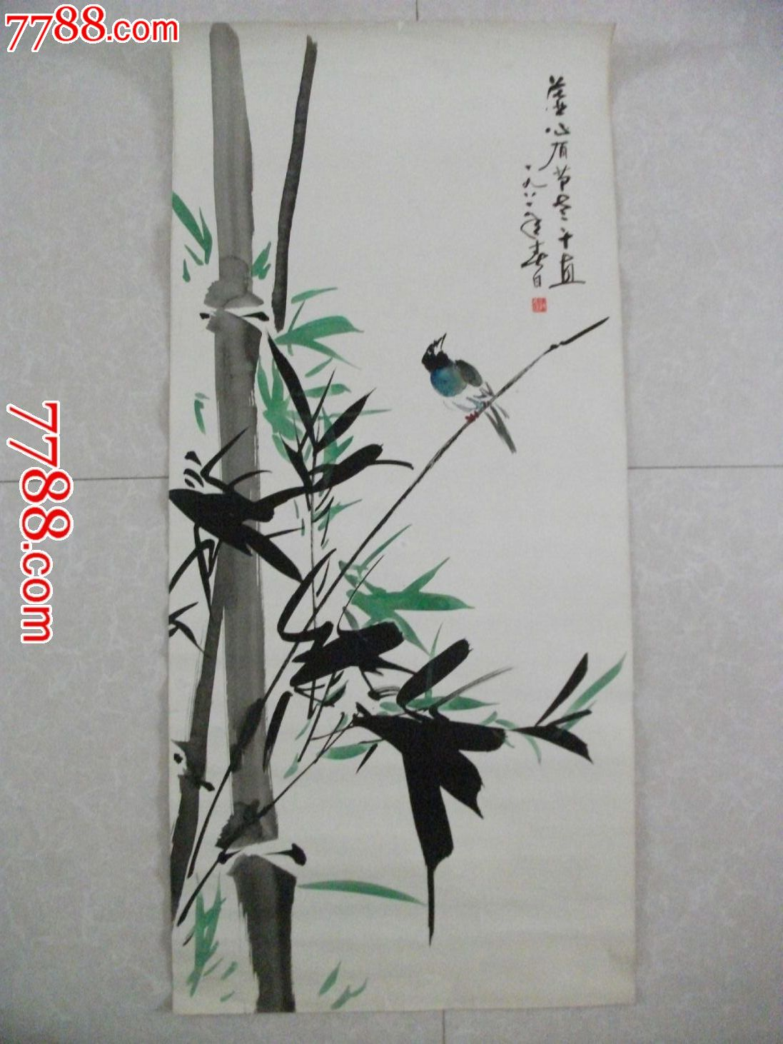 小学生竹子水粉画
