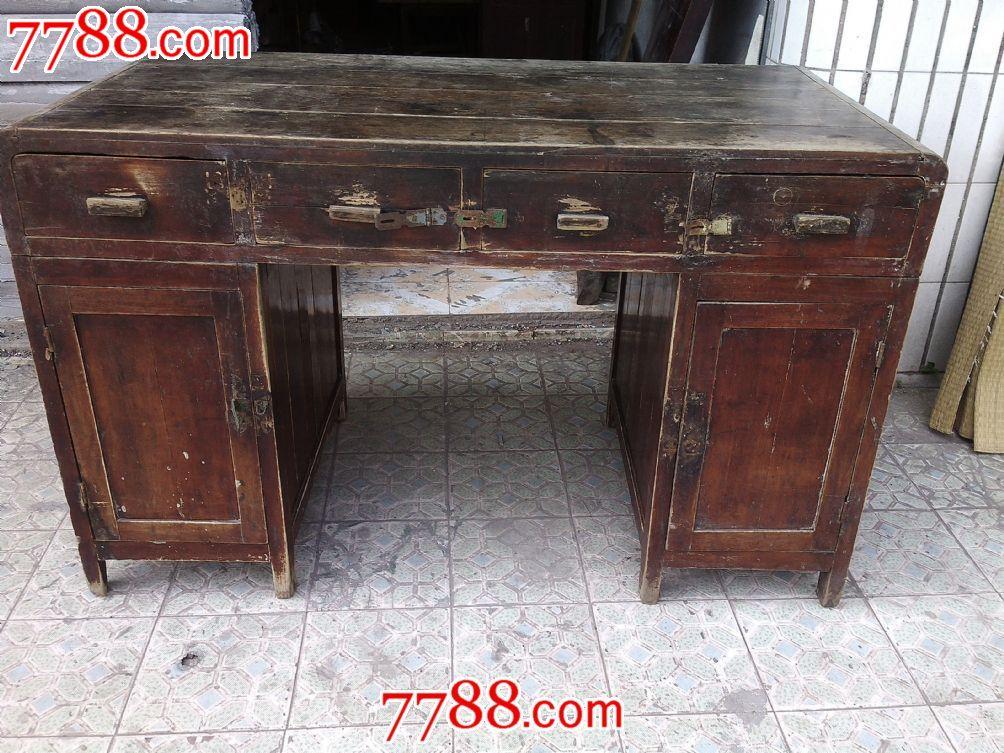 民国楠木书桌-价格:1050.0000元-se17145492-木柜/木