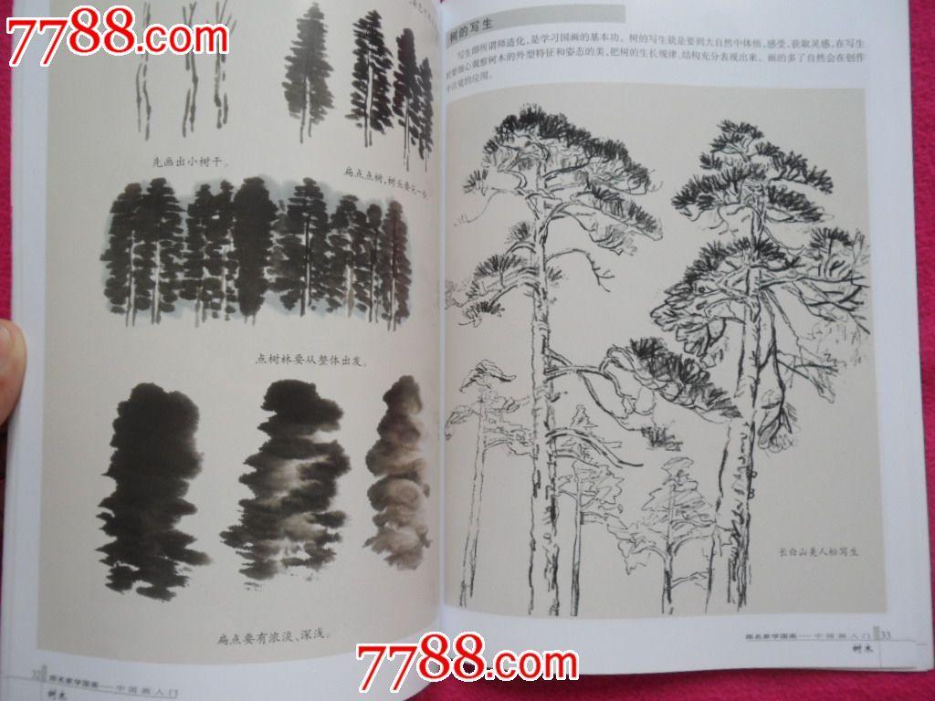 中国画入门-树木_水粉/水彩画册【淘宝老地方】