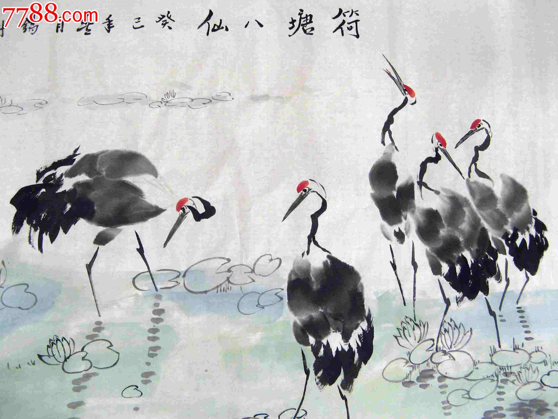 写意丹顶鹤画法步骤