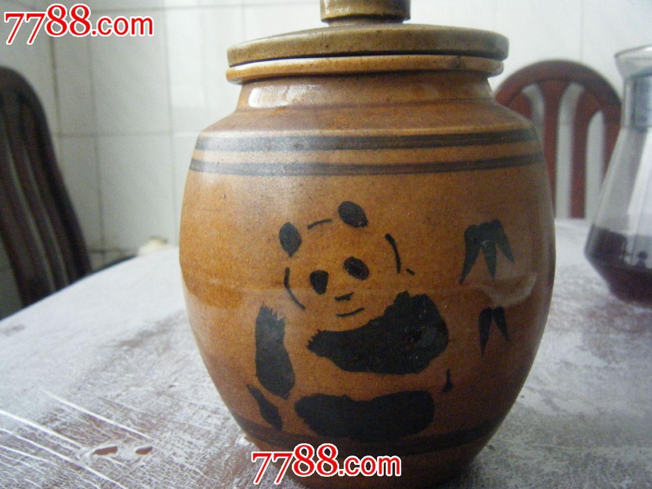 陶瓷罐动物熊猫
