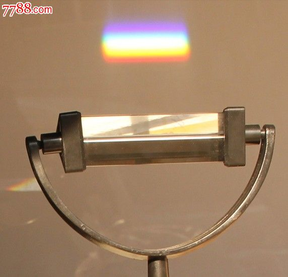 棱镜光学玻璃带支架底座彩虹原理演示