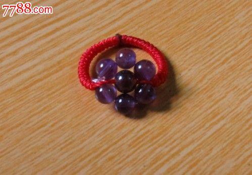 手工编织紫水晶戒指