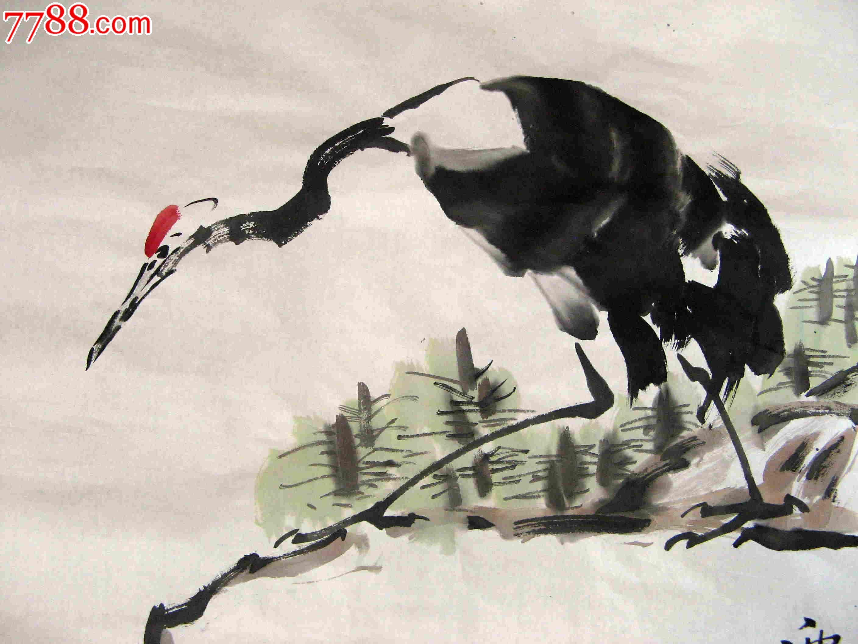 写意丹顶鹤的画法