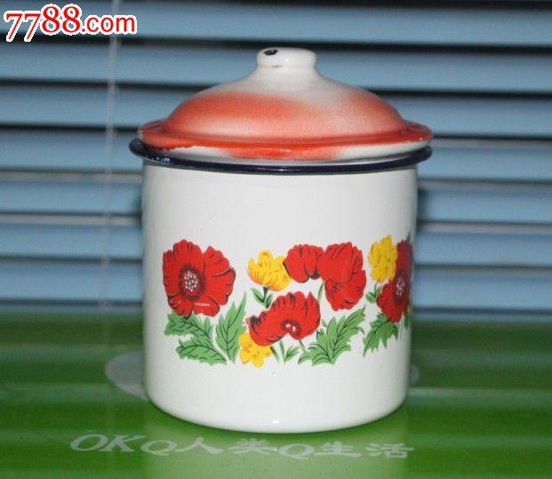 80-90年代家庭铁水杯怀旧水杯小水杯壶印花水杯缸老式样水杯子_第2张图片