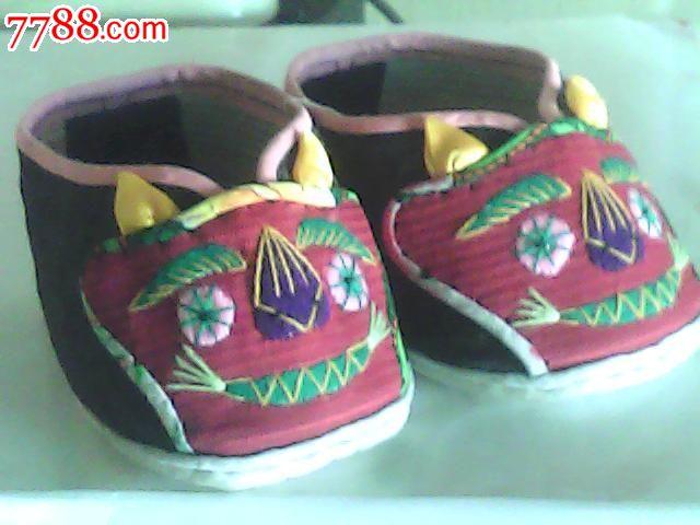 民国儿童老虎鞋,纯手工制作(未使用)