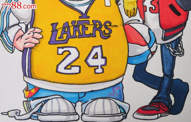 原创手绘漫画—篮球