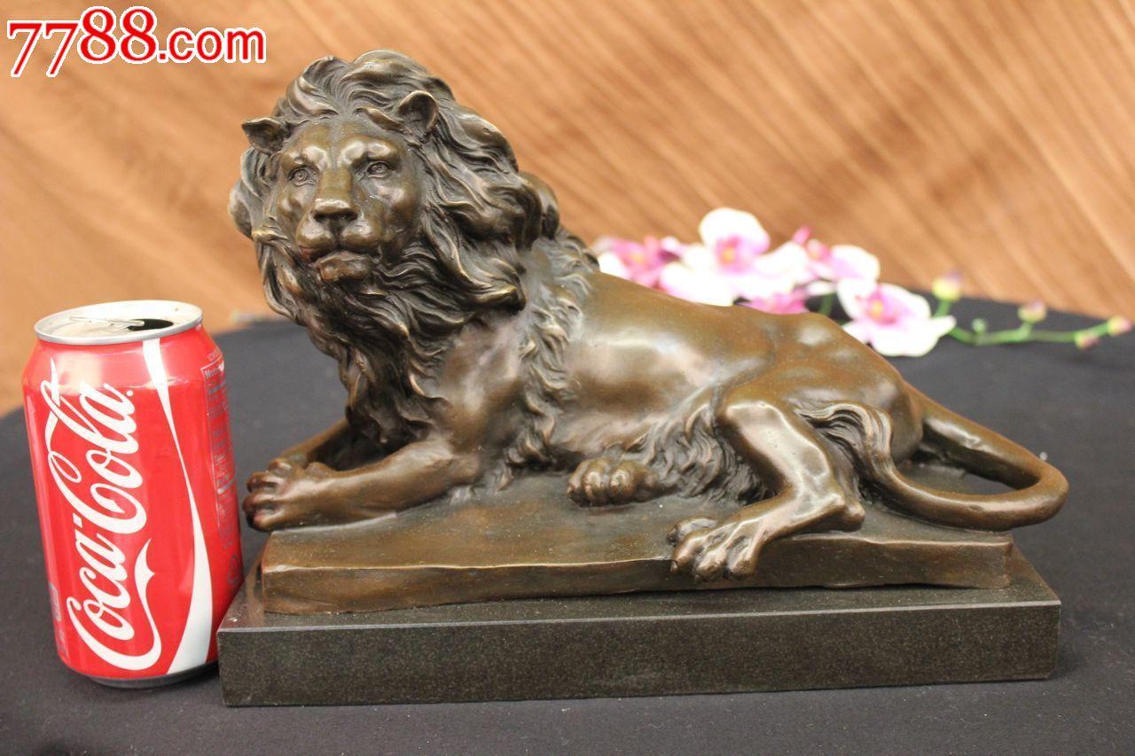 欧洲青铜狮子雕塑