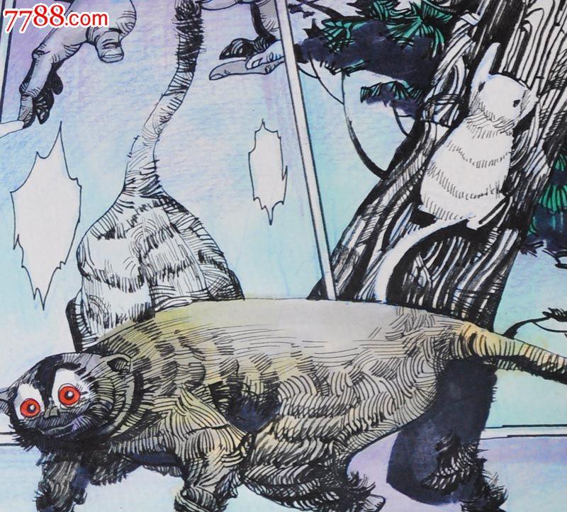 原创手绘漫画—树怪