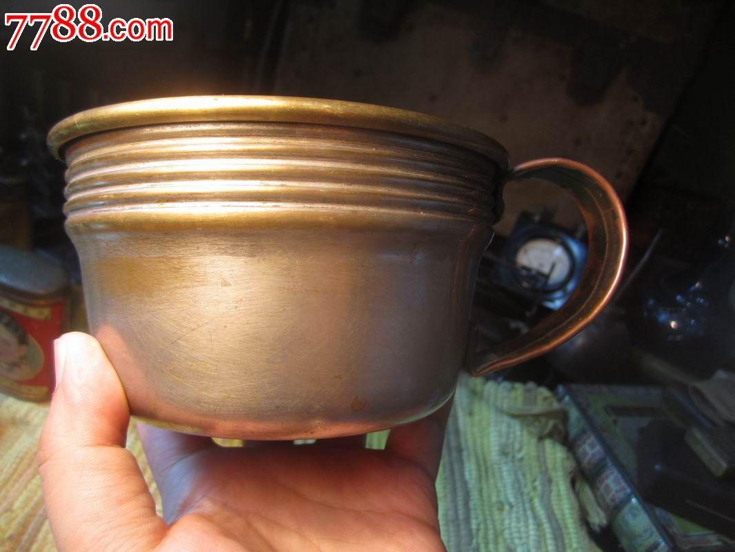 民国时期自制漂亮的老铜保温杯图片