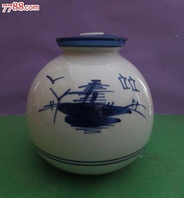 精美陶瓷手绘图案黑土地酒瓶【全品】