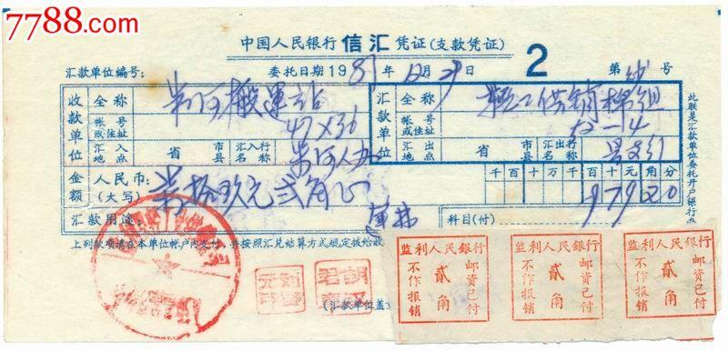 1981年中国人民银行