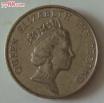 1998年香港5元硬币_198*年5元香港硬币《英女皇头》