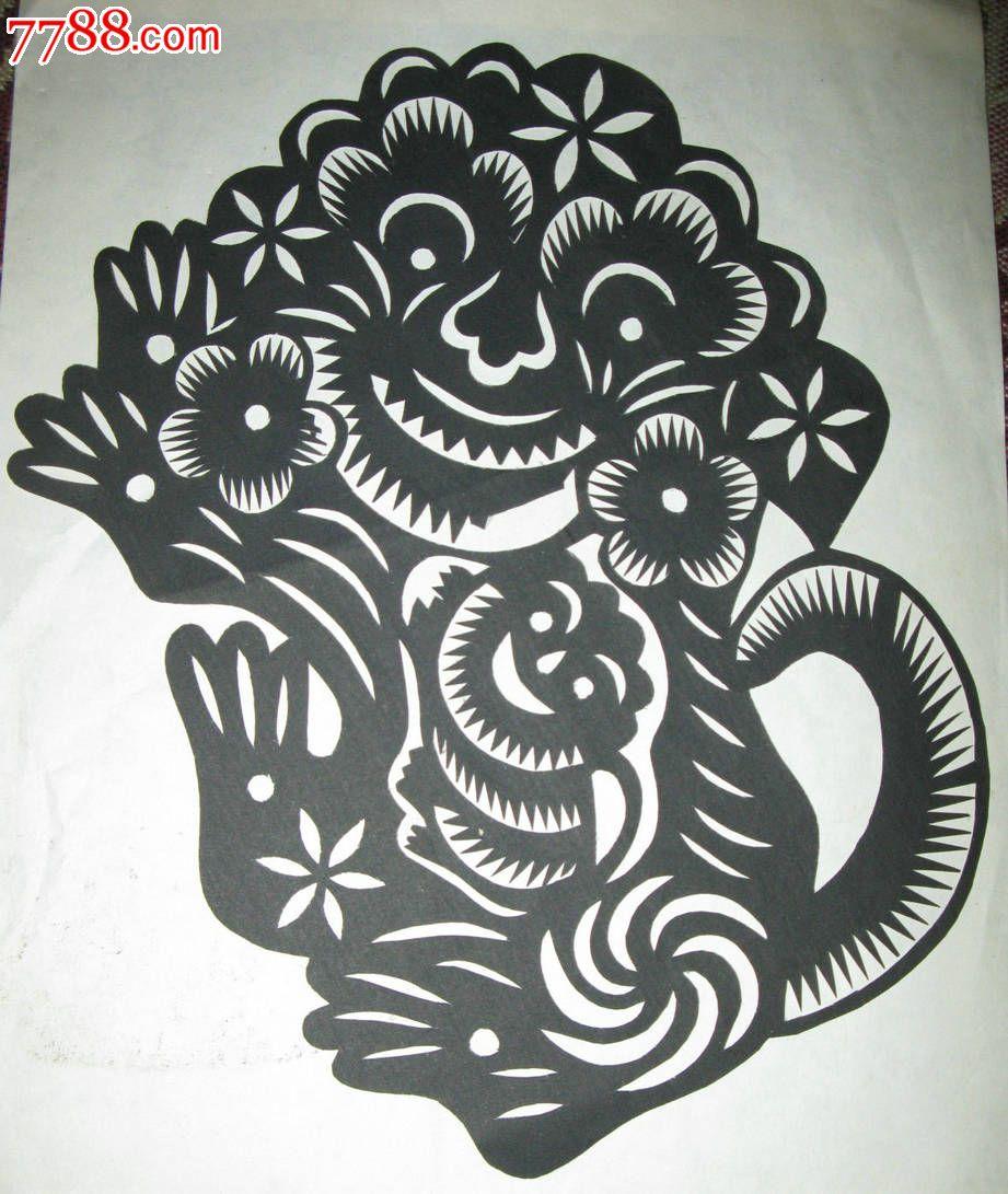 老虎窗花的剪法步骤图解