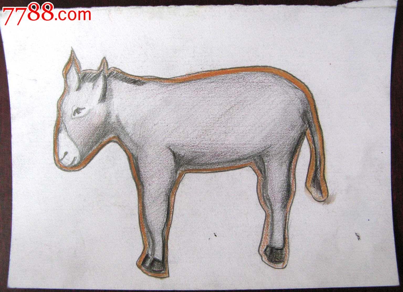 素描动物画:小毛驴