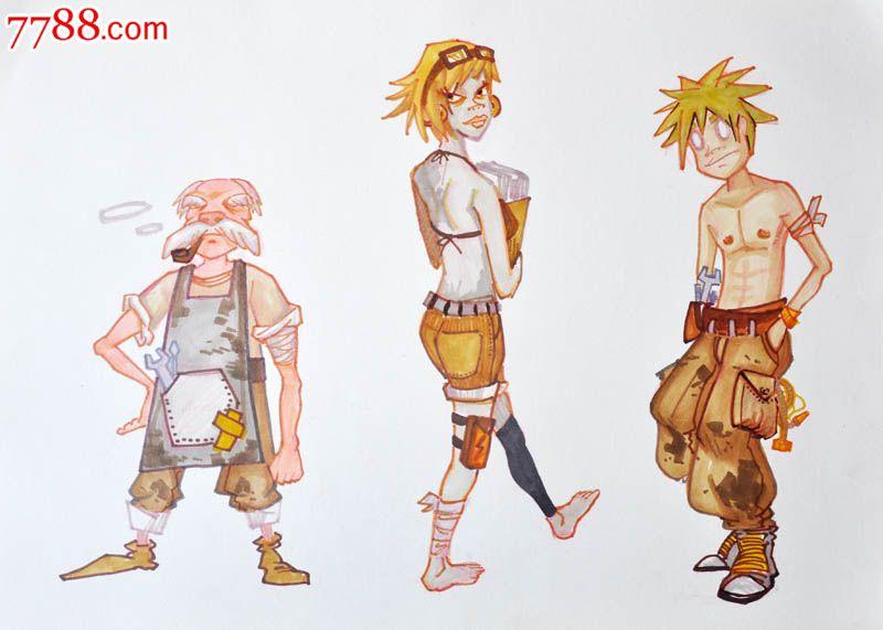 原创手绘漫画—人物角色(二张)