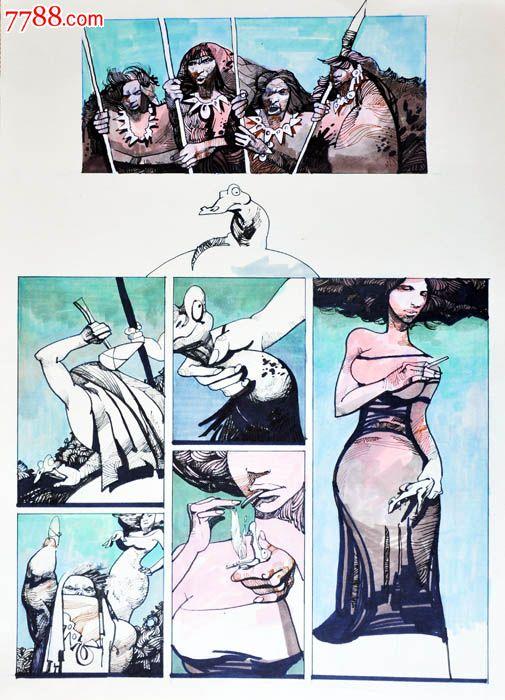 原创手绘漫画—点烟女郎