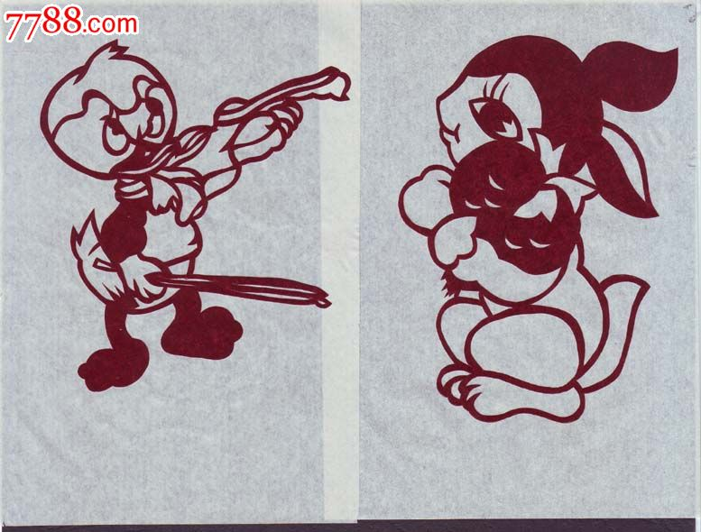 中国剪纸-动物_剪纸/刻纸画册