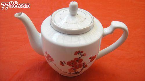 中国景德镇梅花手绘彩瓷茶壶
