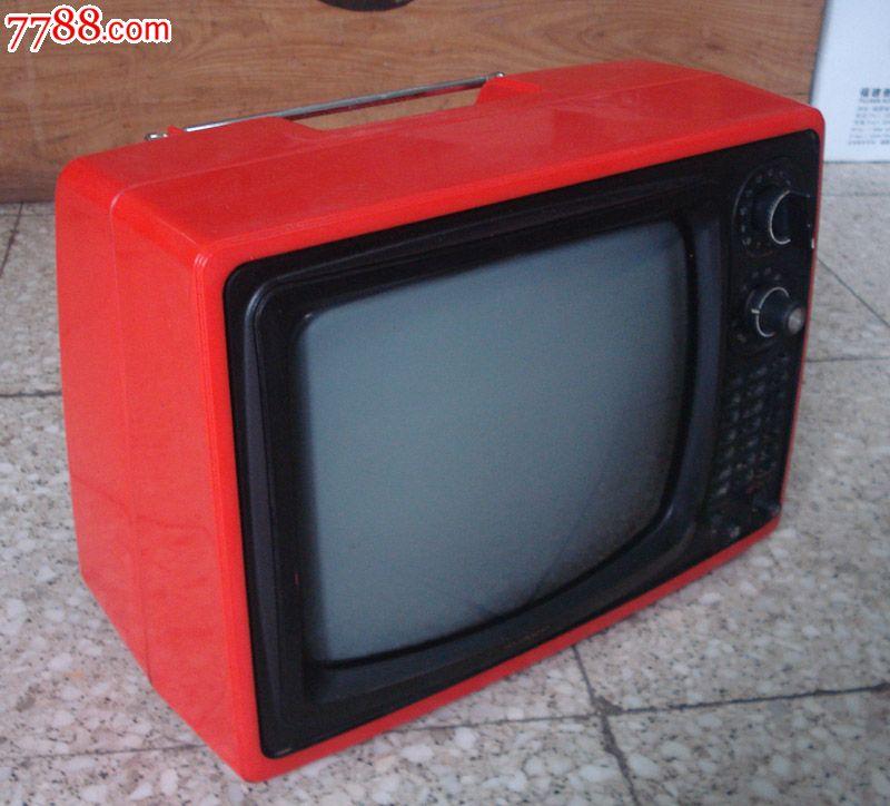 怀旧收藏影视道具老式黑白电视机日本原装夏普牌12寸黑白电视机