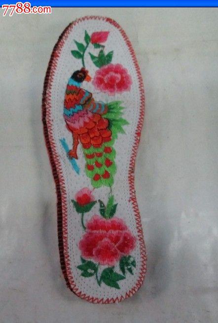 即将遗失的传统文化之【纯手工鞋垫-----孔雀芙蓉】