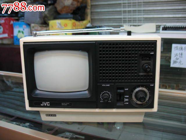 日本原装jvc微型黑白电视机