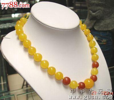美丽的中国翡翠珠子项链17