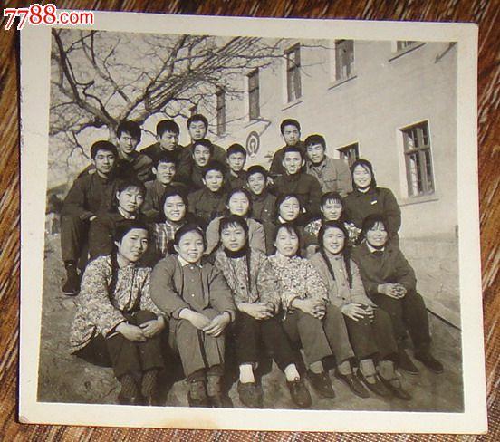 青岛铁路学校男女学生们_老照片_藏泉阁【7788收藏