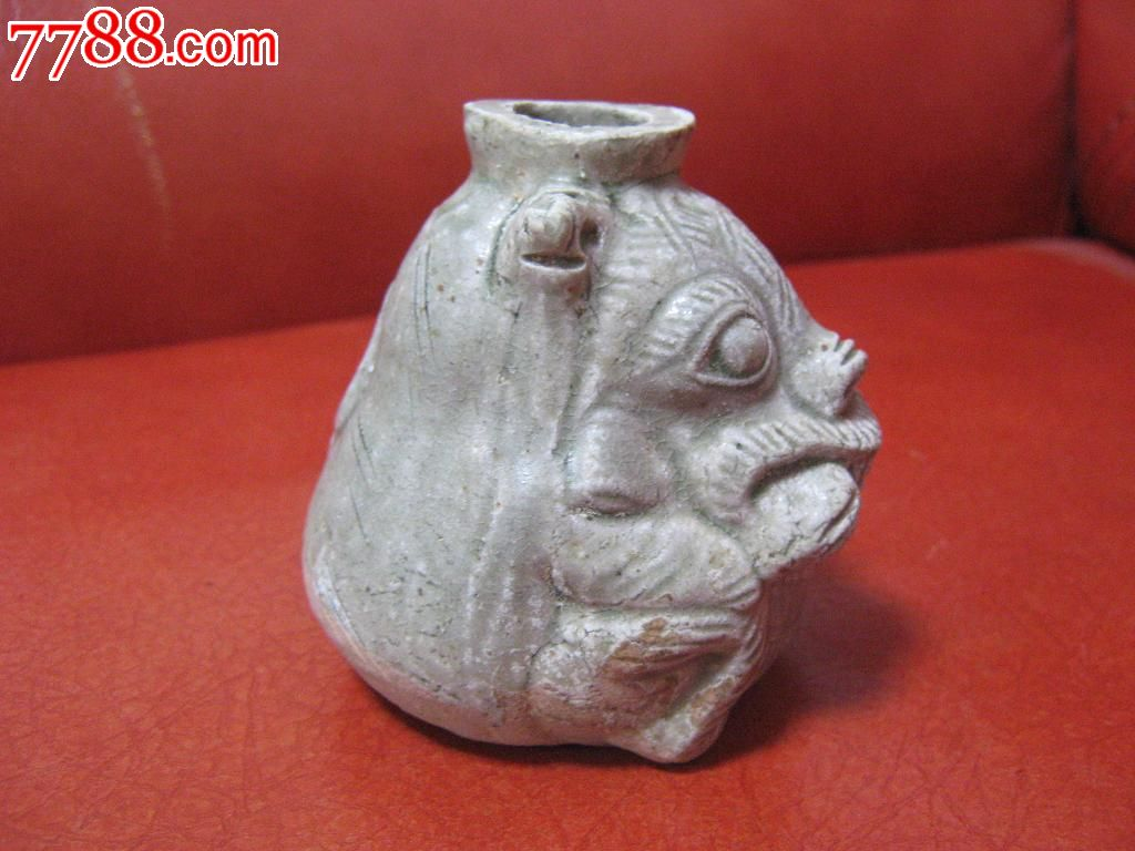 瑞兽青瓷摆件动物雕塑龙泉窑烛台水滴