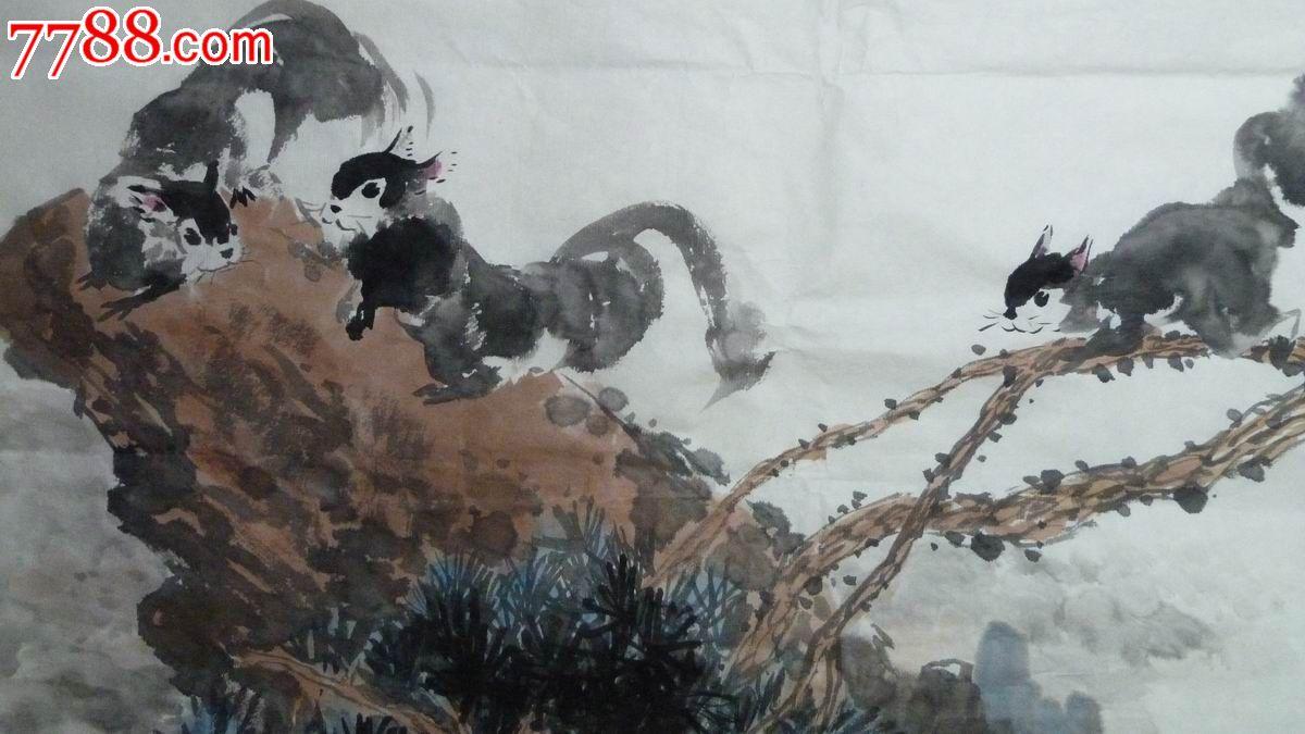 中国画写意松鼠《天地悠悠万物生》