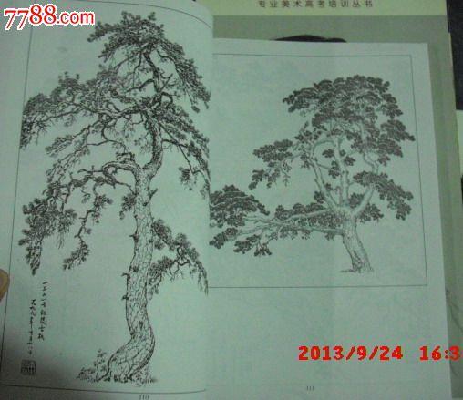 名家白描画谱树木