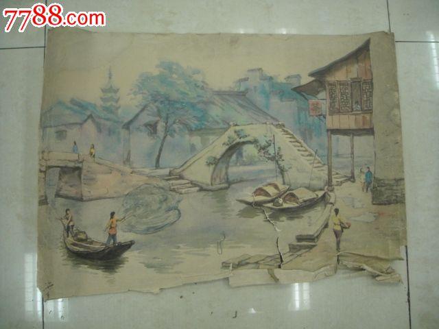 苏州风景图水彩画-se19975814-水粉/水彩原画-零售