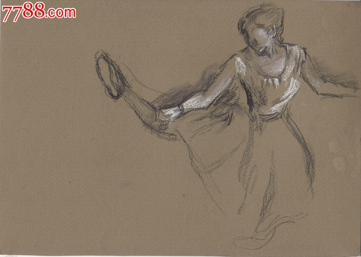 铅笔画古装美女舞蹈