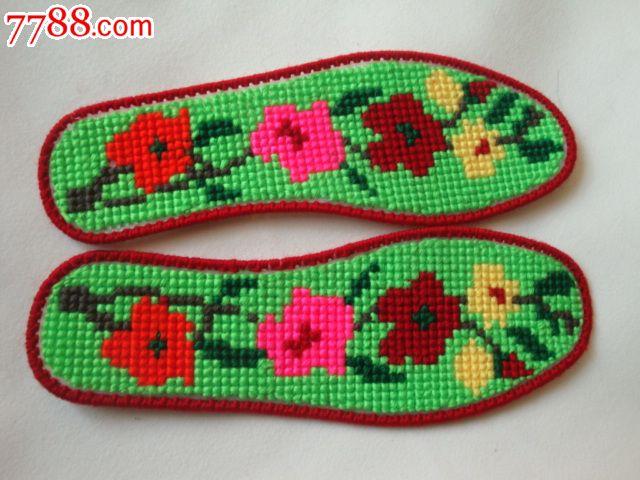 漂亮的十字绣鞋垫