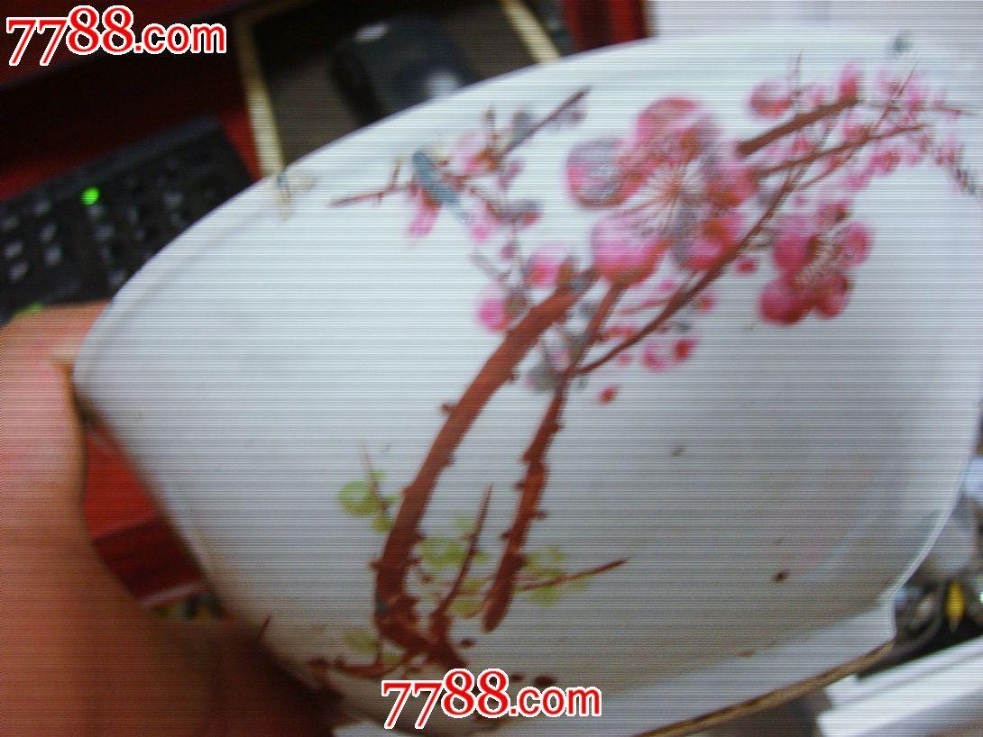 文革手绘梅花碗